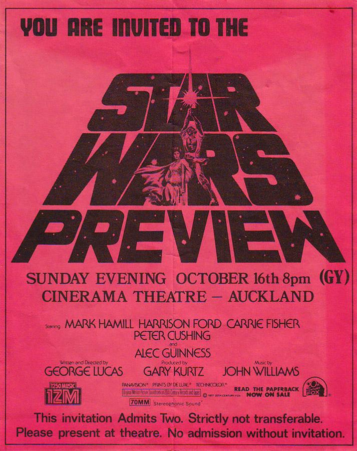 New Zealand Star Wars Premiere - 1977 - SWNZ, Star Wars New