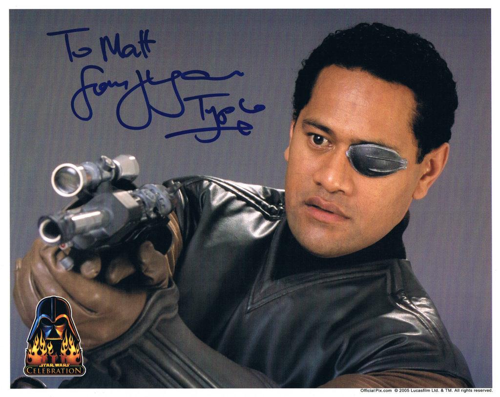 Jay La'agaia Captain Typho autograph