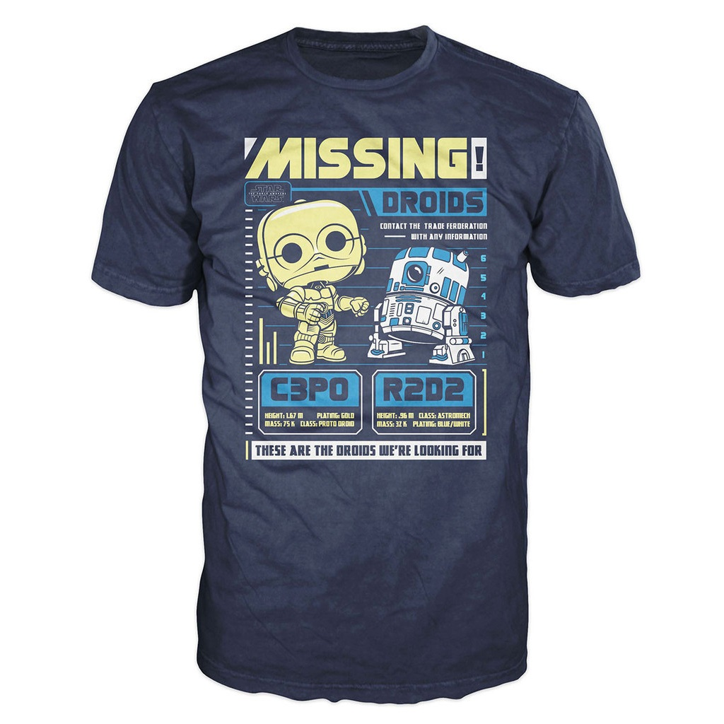 Mighty Ape - Pop! Vinyl men's C-3PO & R2-D2 t-shirt