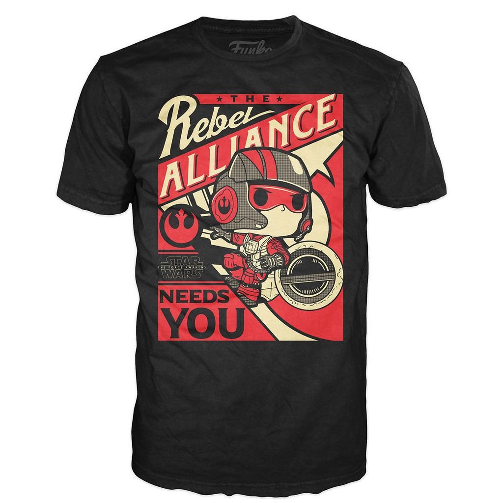 Mighty Ape - Pop! Vinyl men's Poe Propaganda t-shirt