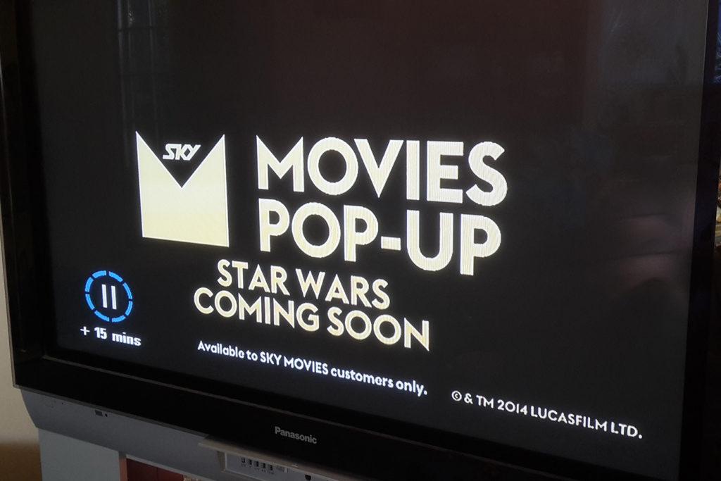 Star Wars pop-Up Channel SkyTV