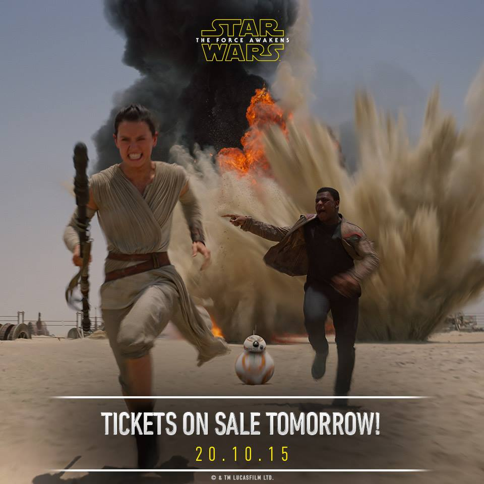 Star Wars: The Force Awakens - tickets on sale tomorrow