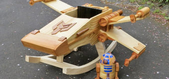 Wooden X-wing Goes Viral