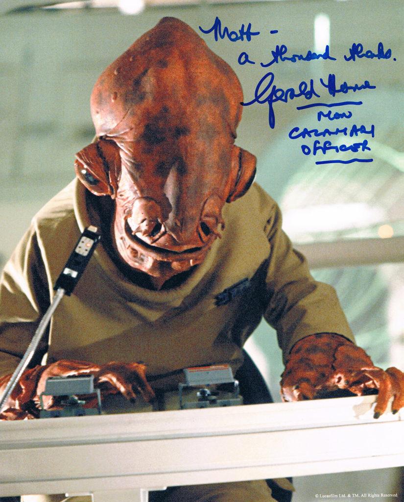 Gerald Home autograph