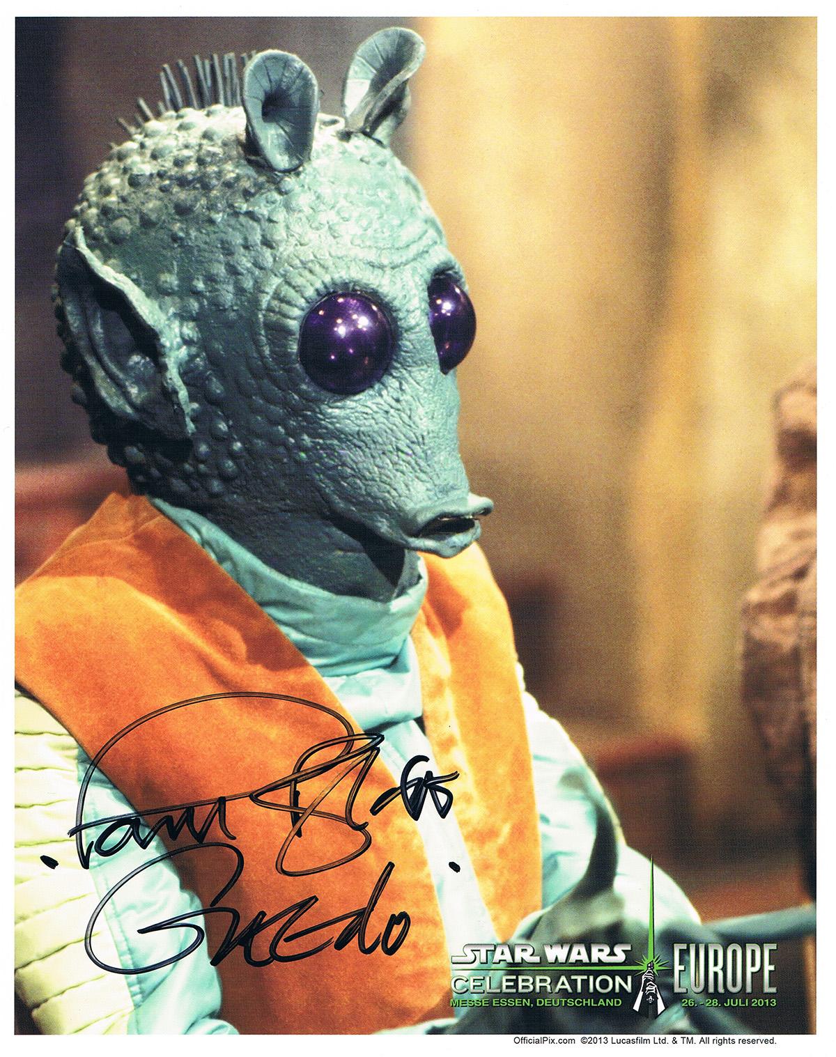 Paul Blake autograph