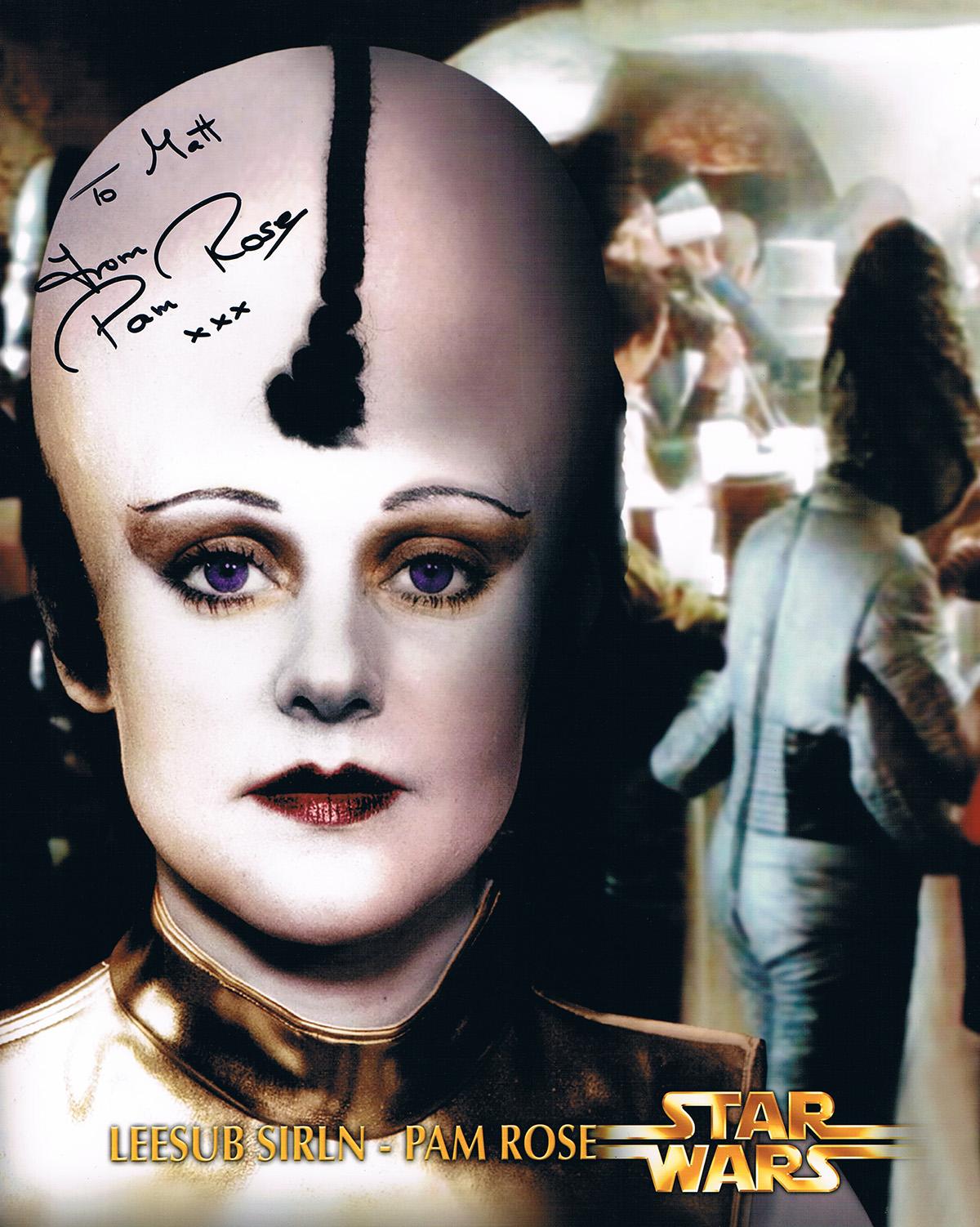 Pam Rose autograph
