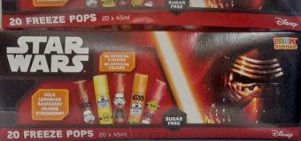 Star Wars Freeze Pops
