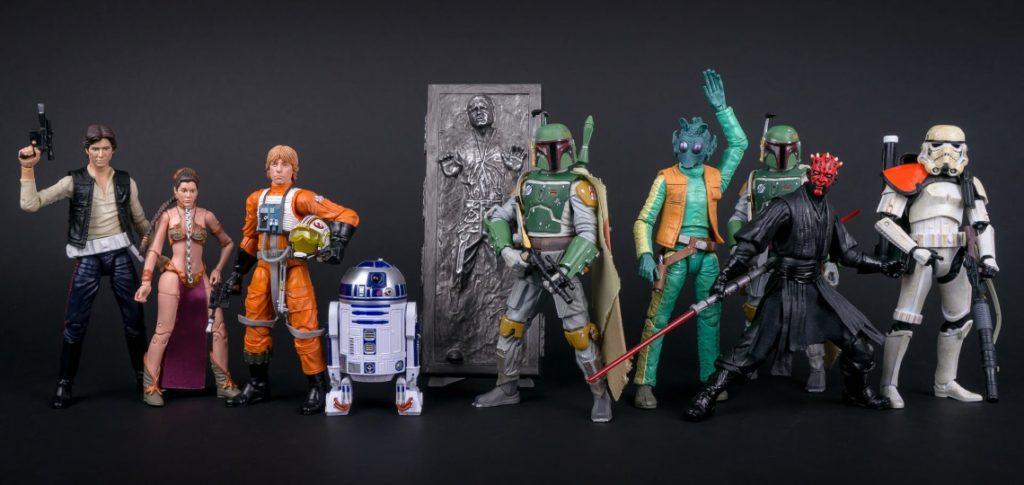 "Star Wars Hasbro Black Series 6"" action figures"
