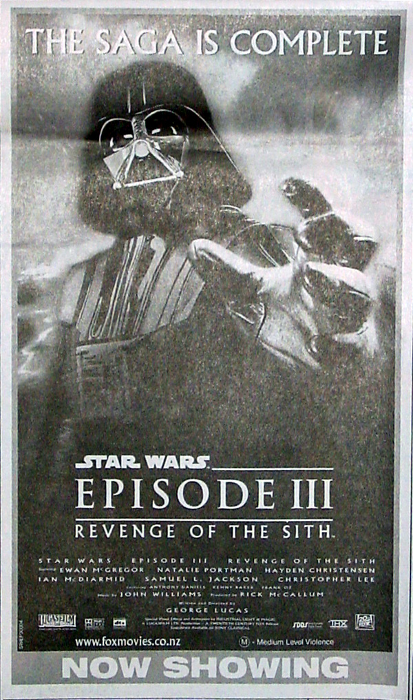 Revenge of the Sith, 19 May 2005