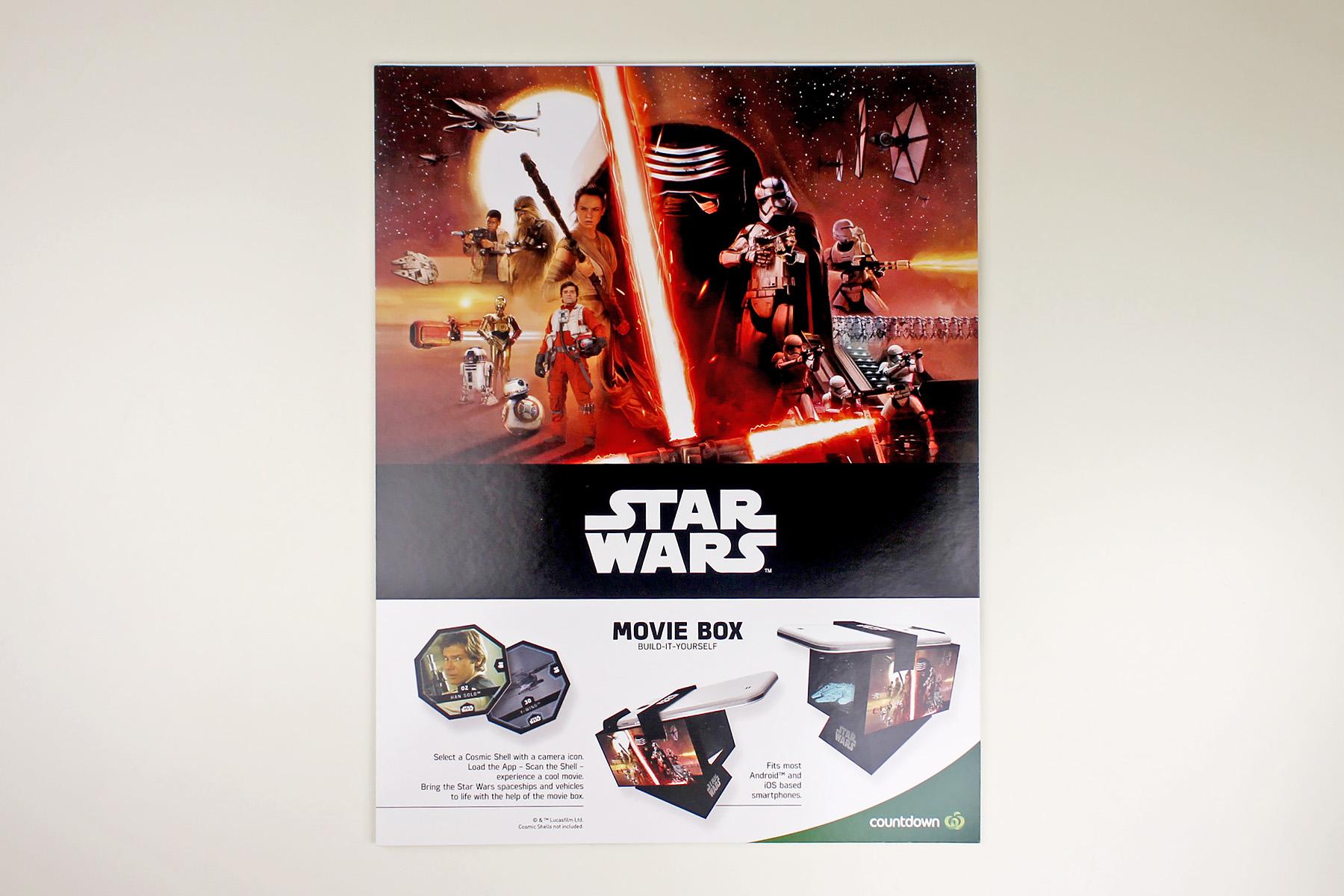 Countdown Cosmic Shells Movie Box Swnz Star Wars New