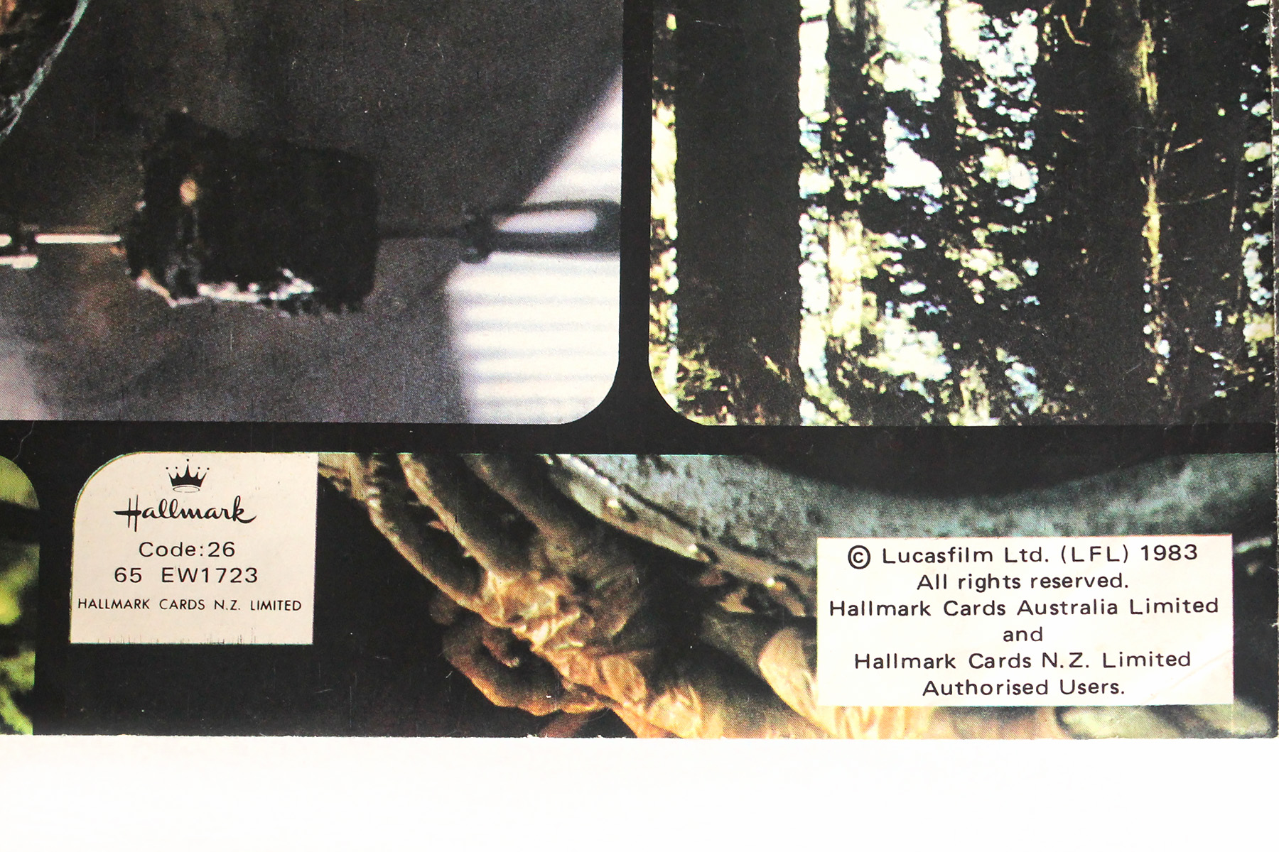 Vintage Wrapping Paper Hallmark Cards Nz Ltd Swnz Star Wars New