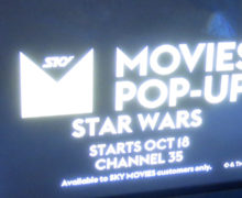 Star Wars Pop-Up Channel on SkyTV