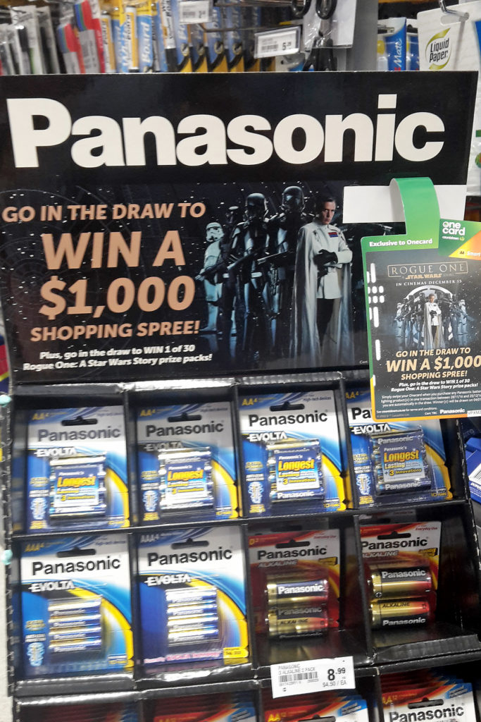 Panasonic Rogue One competition at Countdown