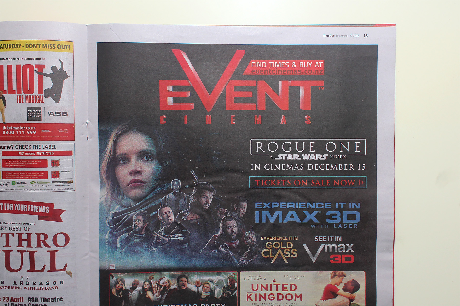 Nz Herald: Rogue One In NZ Herald Time Out