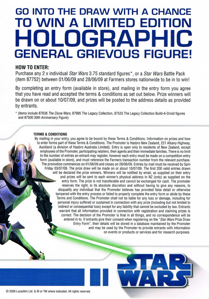 Hasbro Farmers General Grievous Competition