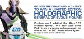 Hasbro/Farmers General Grievous Competition