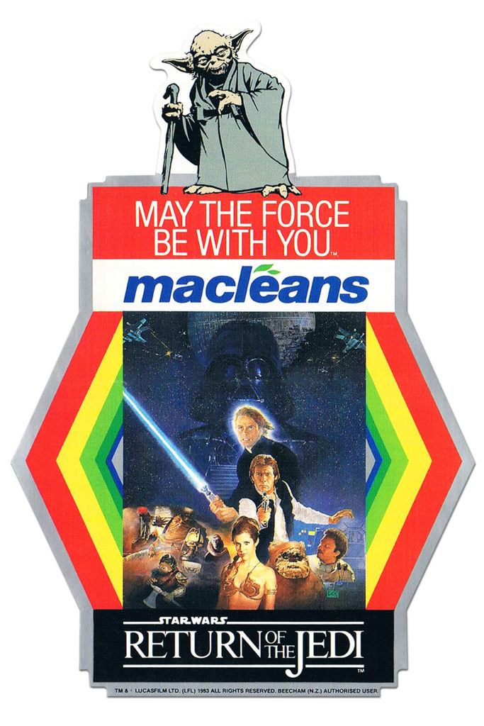 Macleans Toothpaste Star Wars Sticker