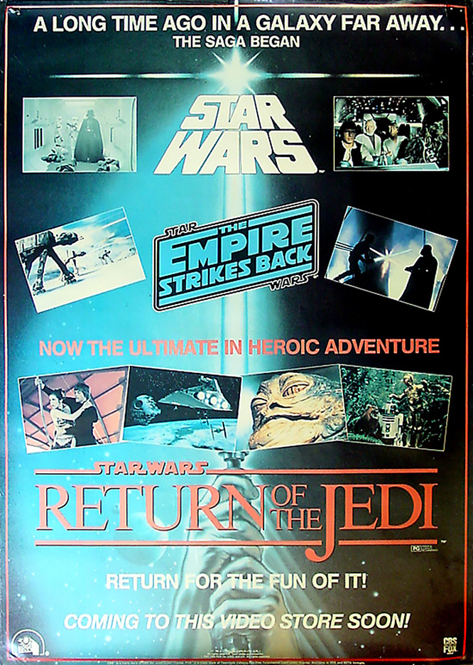 Return of the Jedi on VHS