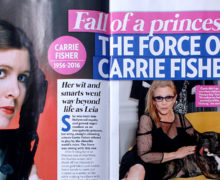 Carrie Tribute in NZ Woman's Day
