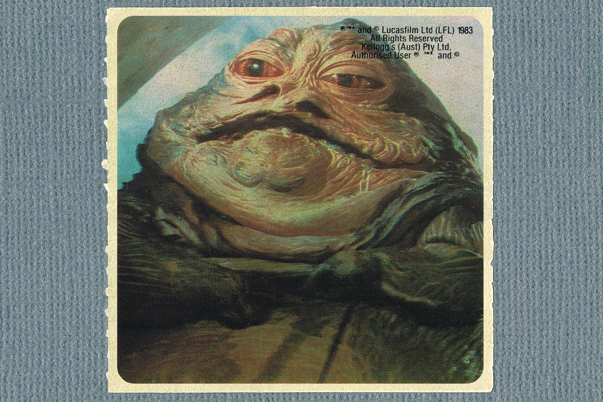 Kelloggs Sticker - Jabba The Hutt