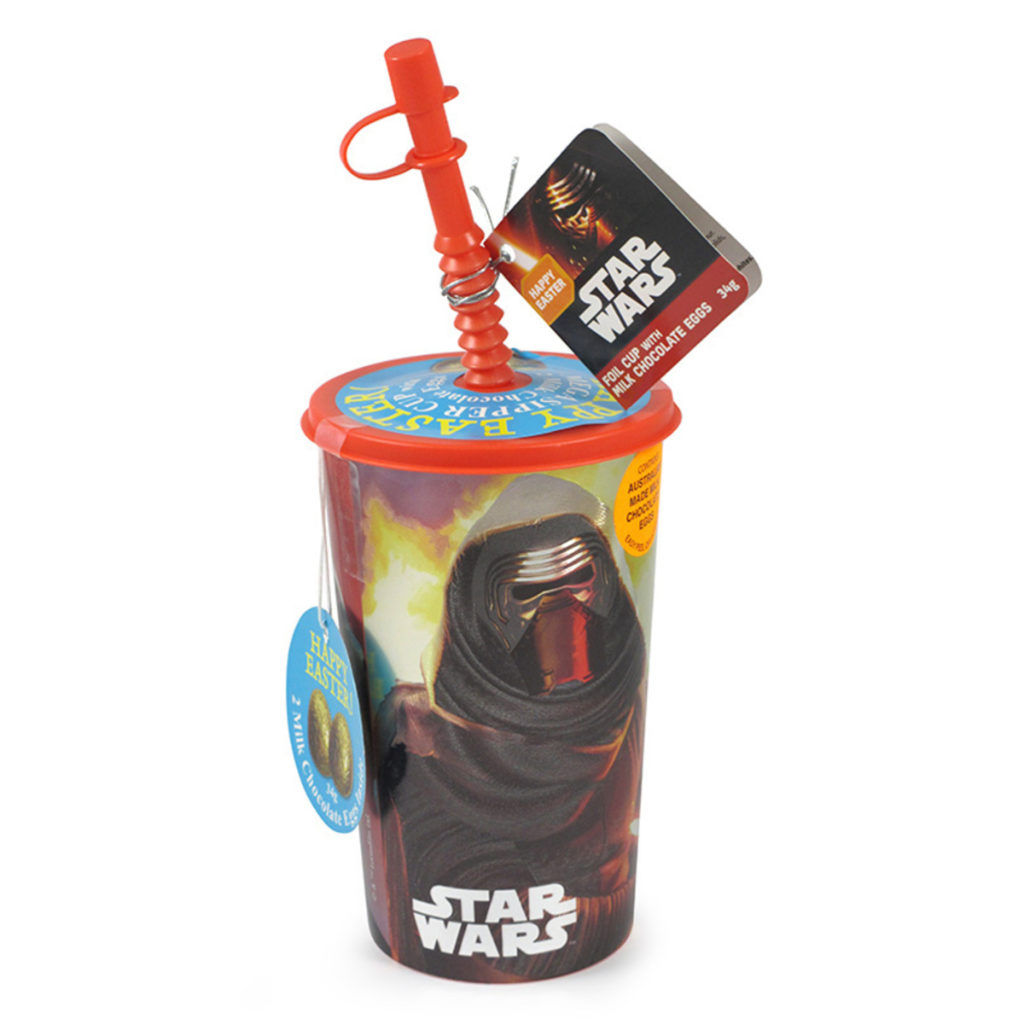 Park Avenue Star Wars Kylo Ren Foil Cup with Chocolate Easter Egss