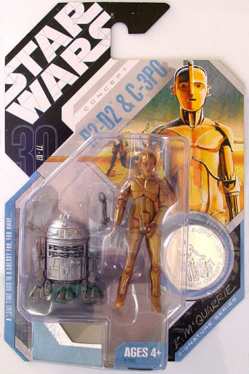 Concept R2-D2 and C-3PO
