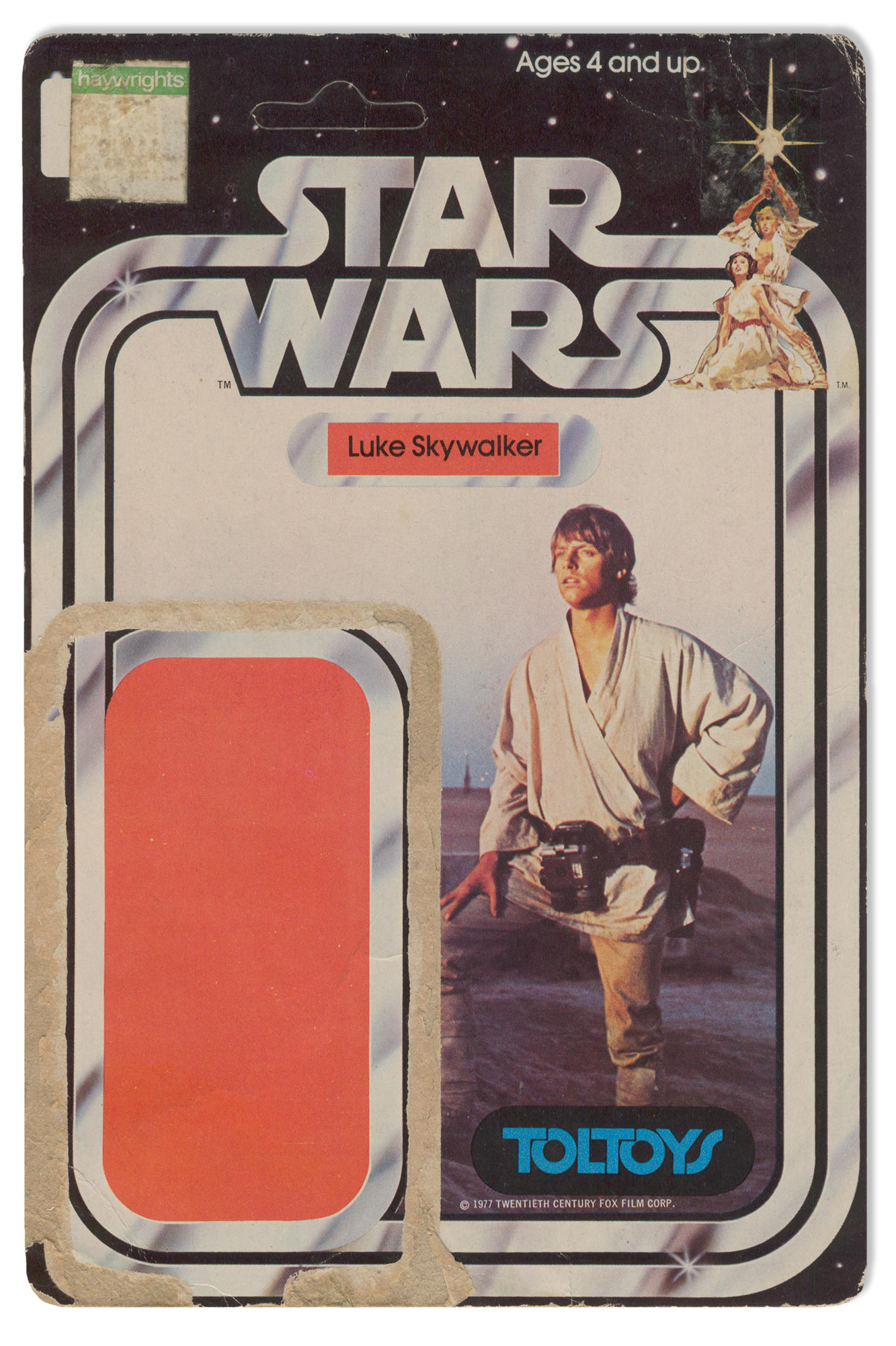 NZ Toltoys 12-back Luke Skywalker cardback