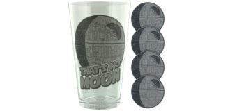 Death Star Glass and Coaster Set