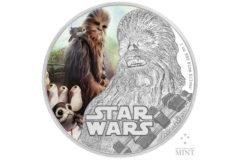 NZ Mint The Last Jedi Coin - Chewbacca