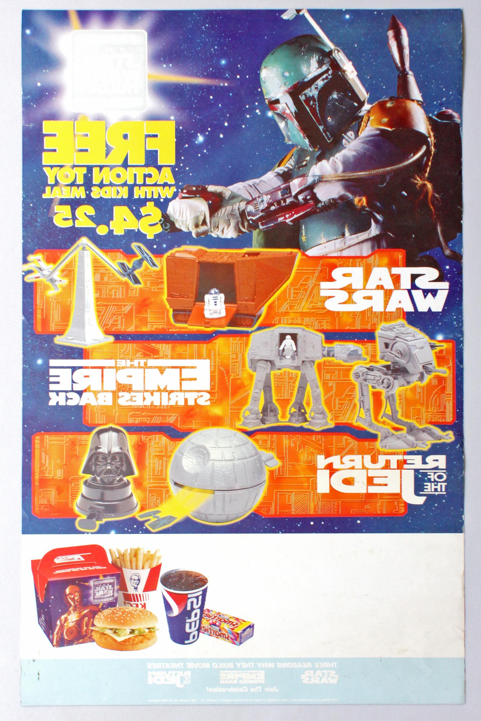 KFC Promotional Poster (Cardboard, Rear)