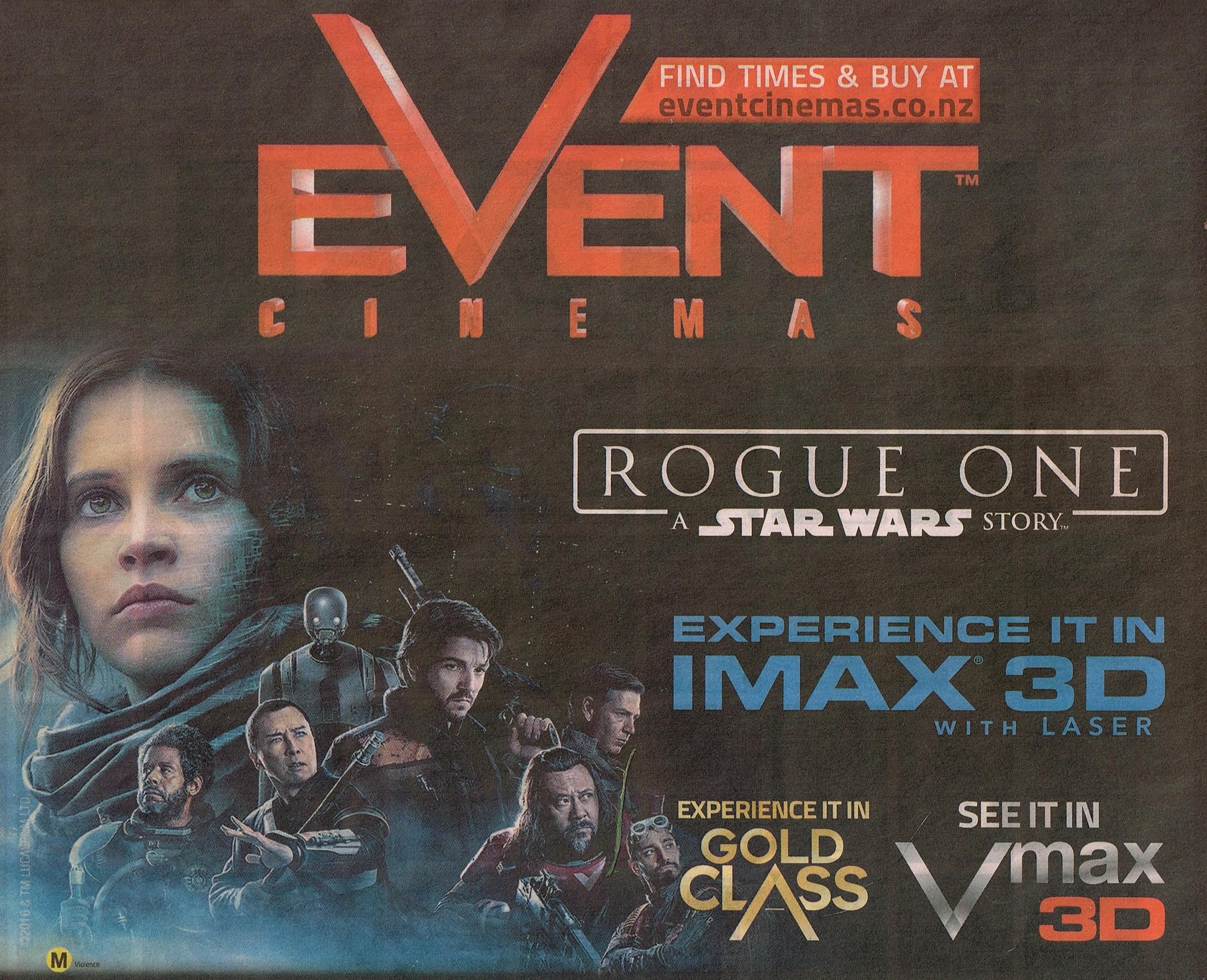 Rogue One, 15 December 2016