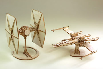 IncrediBuilds TIE Fighter and X-Wing