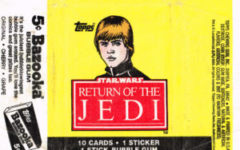 Topps US Return of the Jedi bubblegum wrapper
