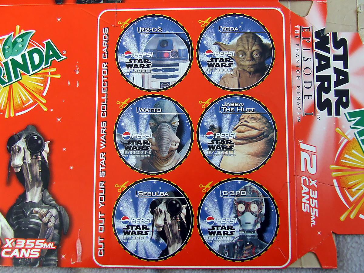 Mirinda Star Wars 12-pack box (NZ, 1999)