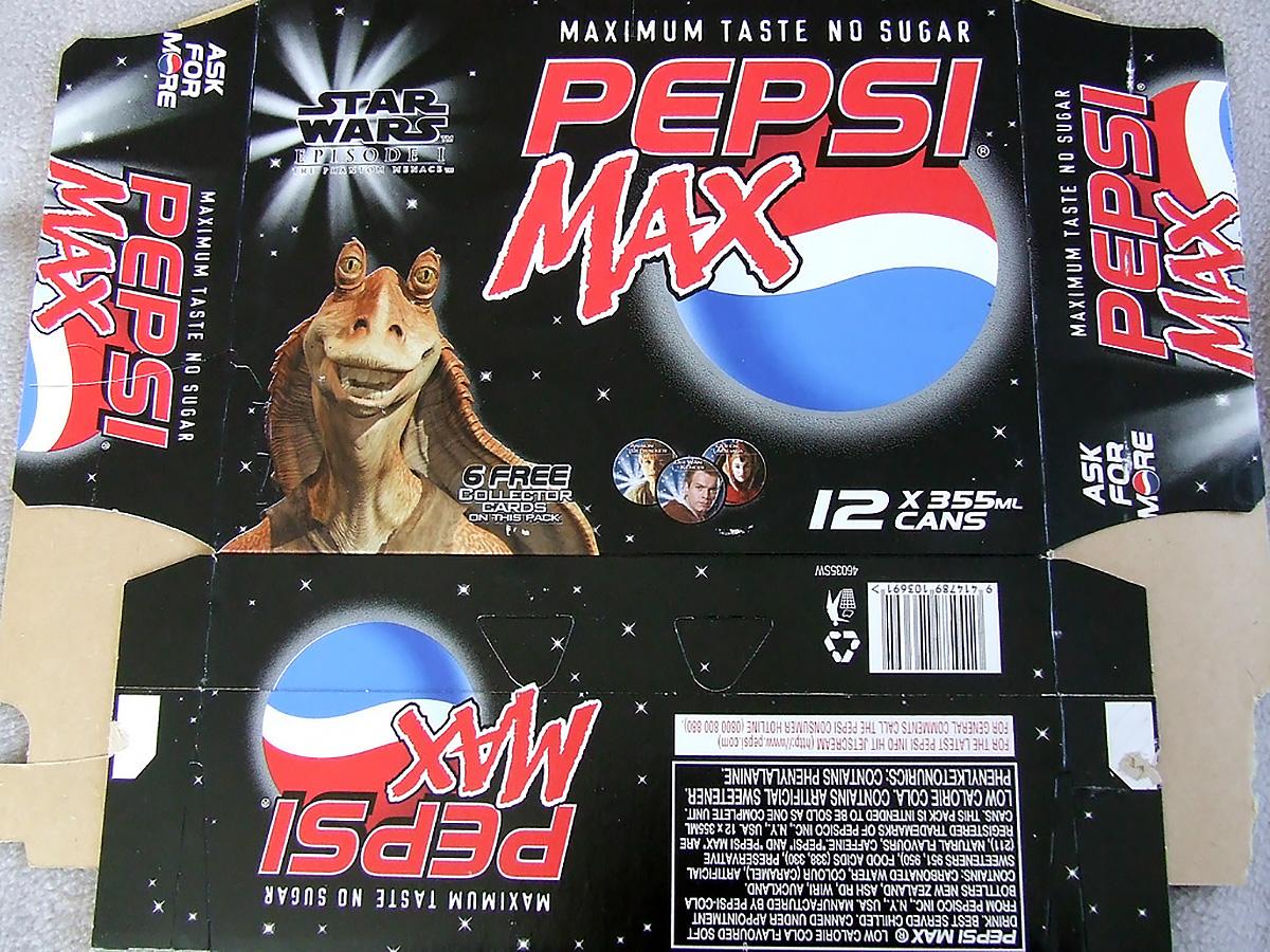 Pepsi Max Star Wars 12-pack box (NZ, 1999)