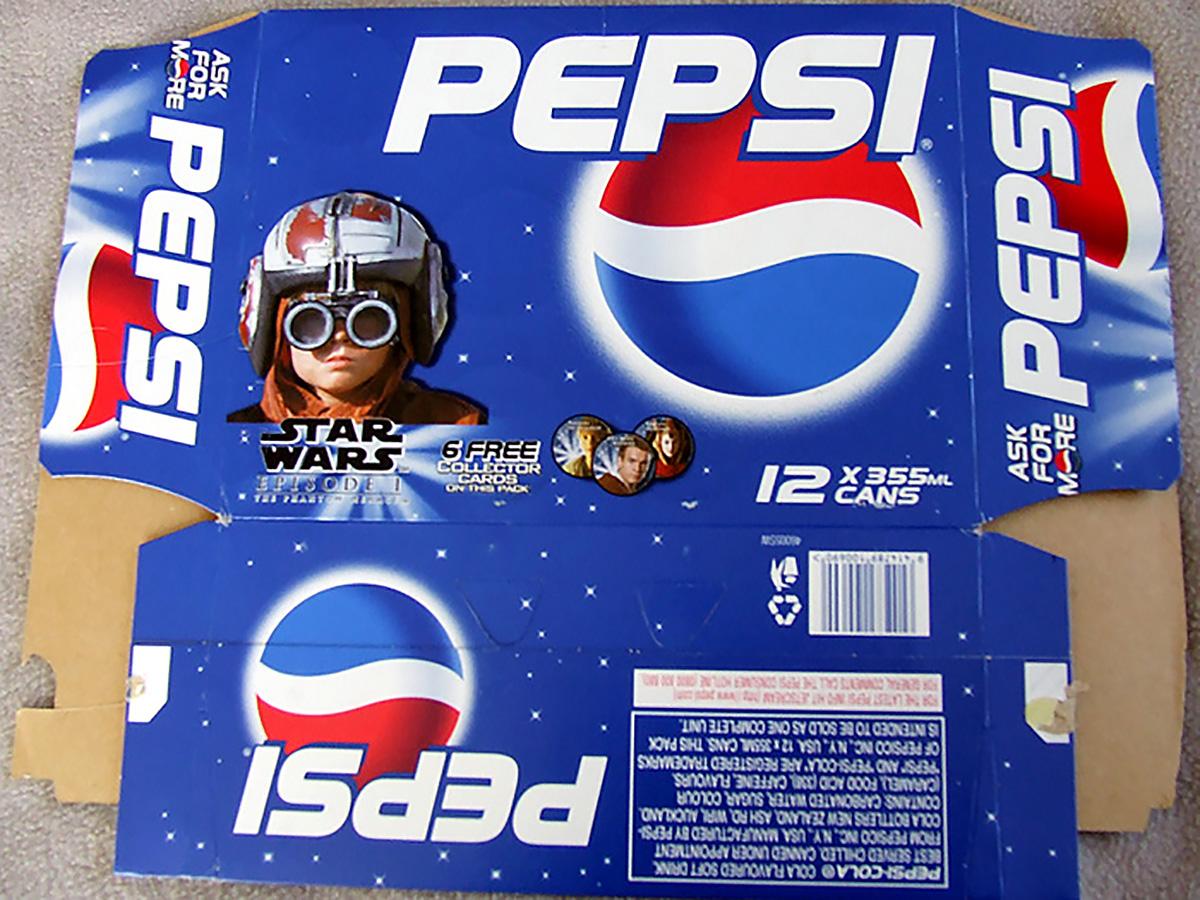 Pepsi Star Wars 12-pack box (NZ, 1999)