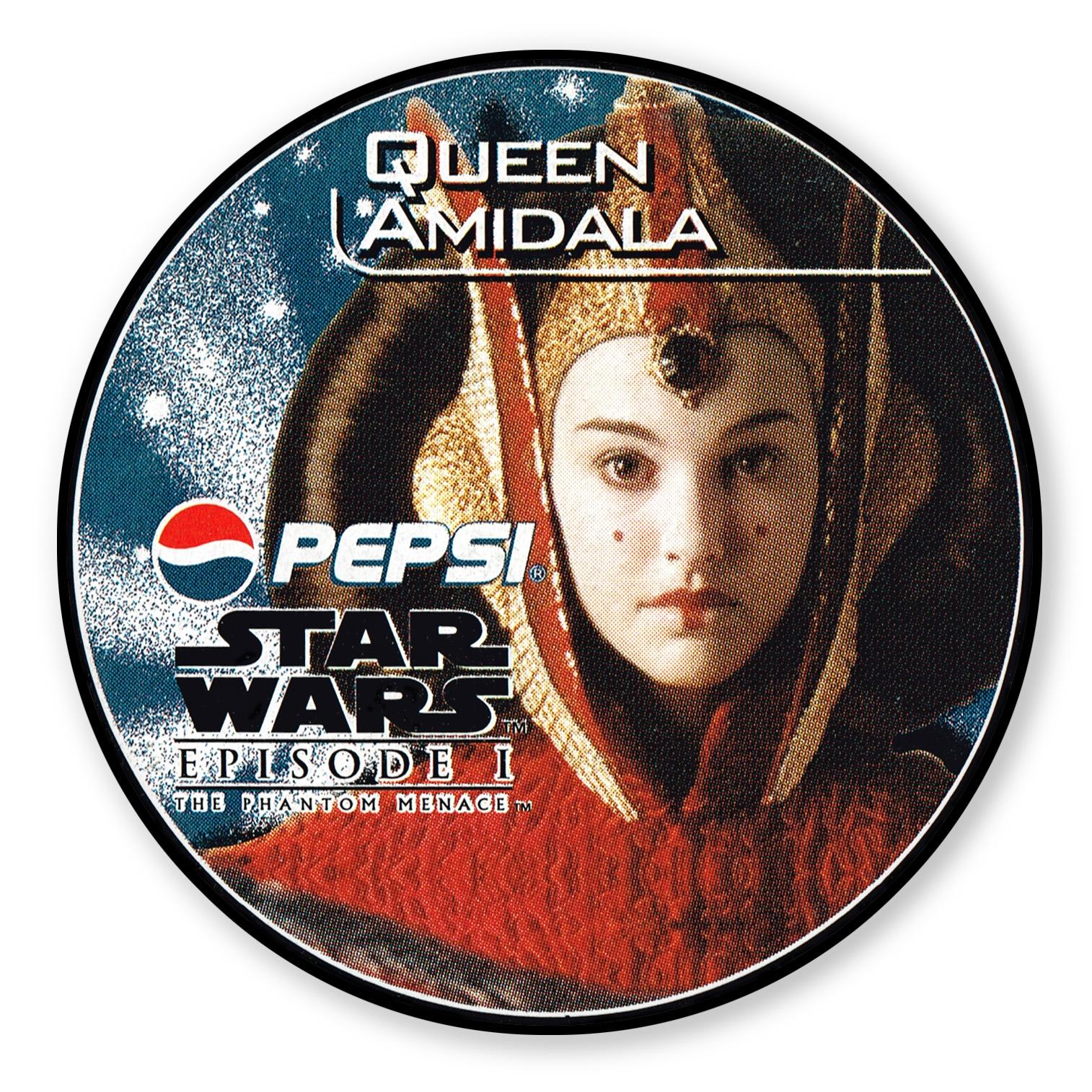 Queen Amidala Pepsi card (NZ, 1999)