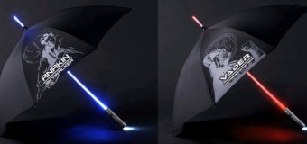 Lightsaber Umbrellas at Mighty Ape