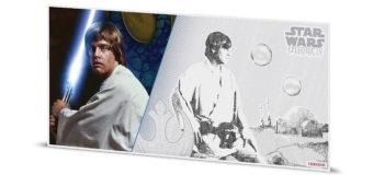 Luke Skywalker Silver Note from NZ Mint