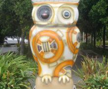"""BB-Owl"" Art Installation in Auckland"