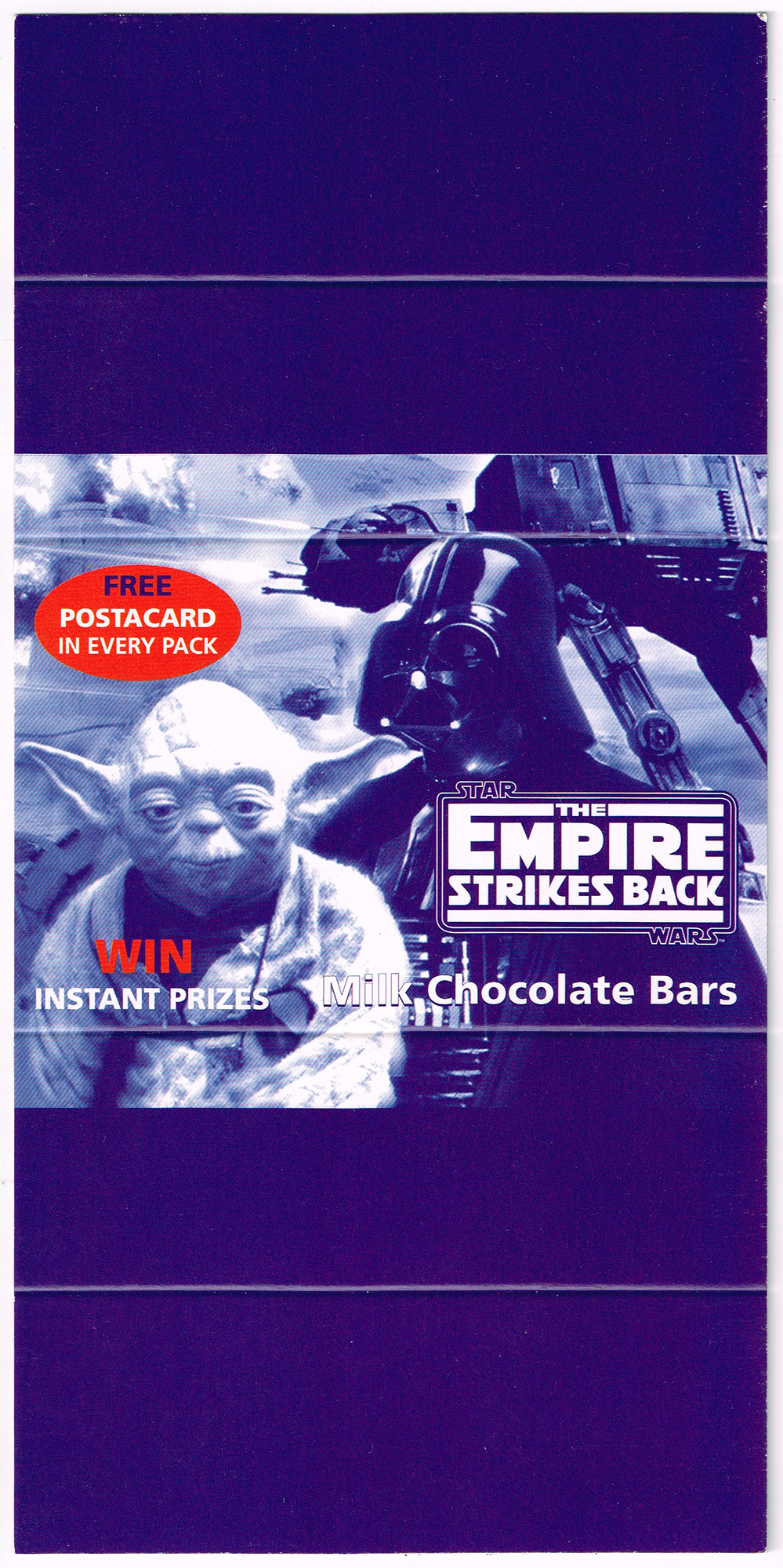 Promotional Trade Card-Wrap to hold 4 Chocolate Bars