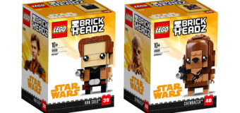 New 'Solo' Lego Brick Headz at Mighty Ape