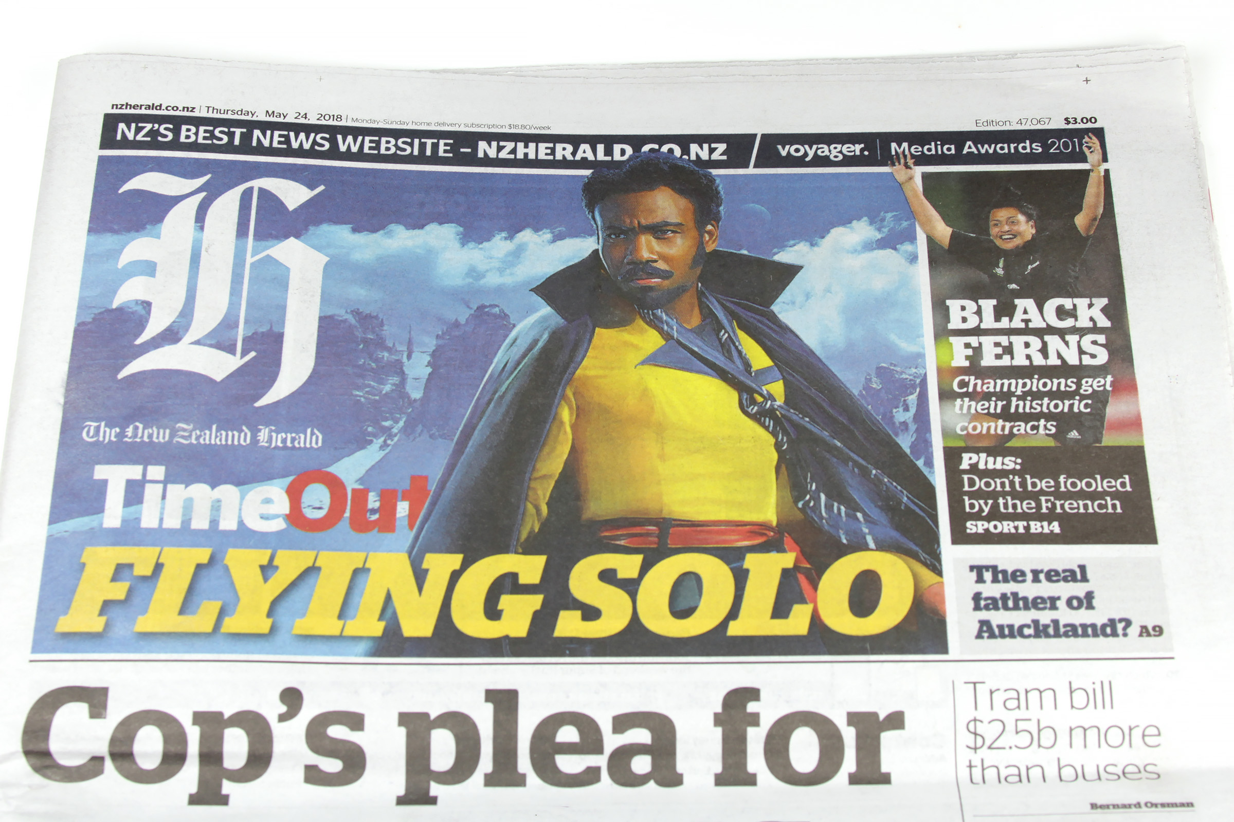 Solo: A Star Wars Story - NZ Herald 24 May 2018