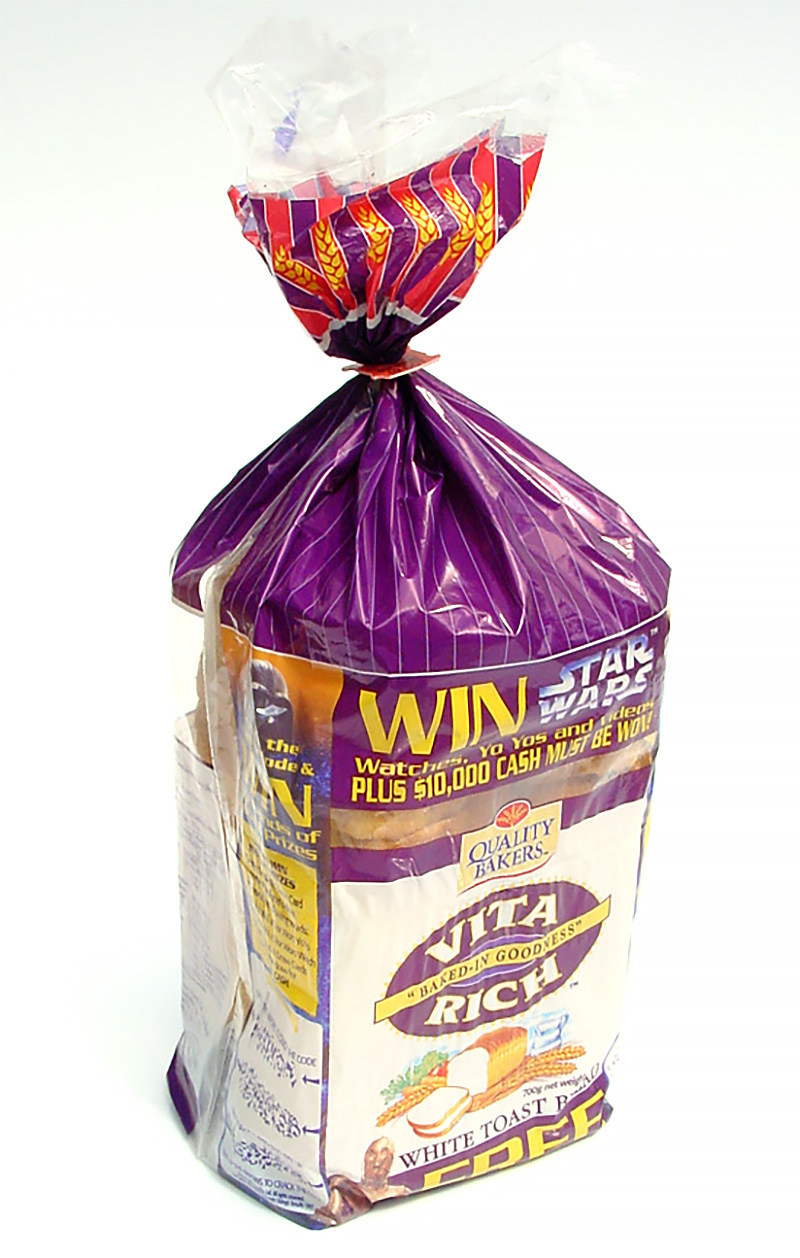 Quality Bakers Star Wars Promotion - Vita Rich Bread Packaging