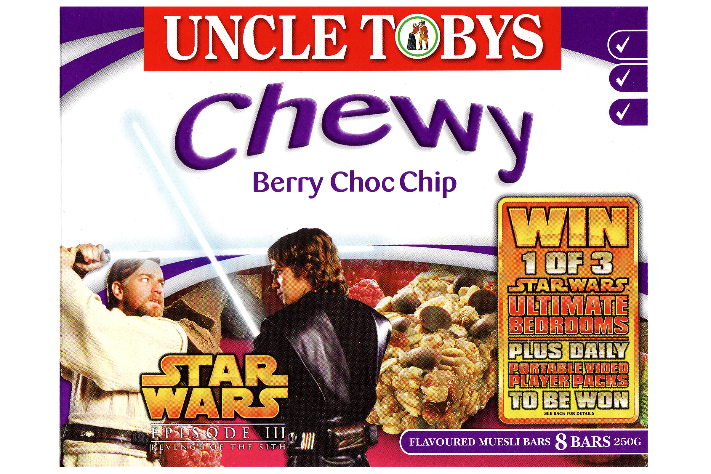 Uncle Tobys Chewy Muesli Bars - Berry Choc Chip