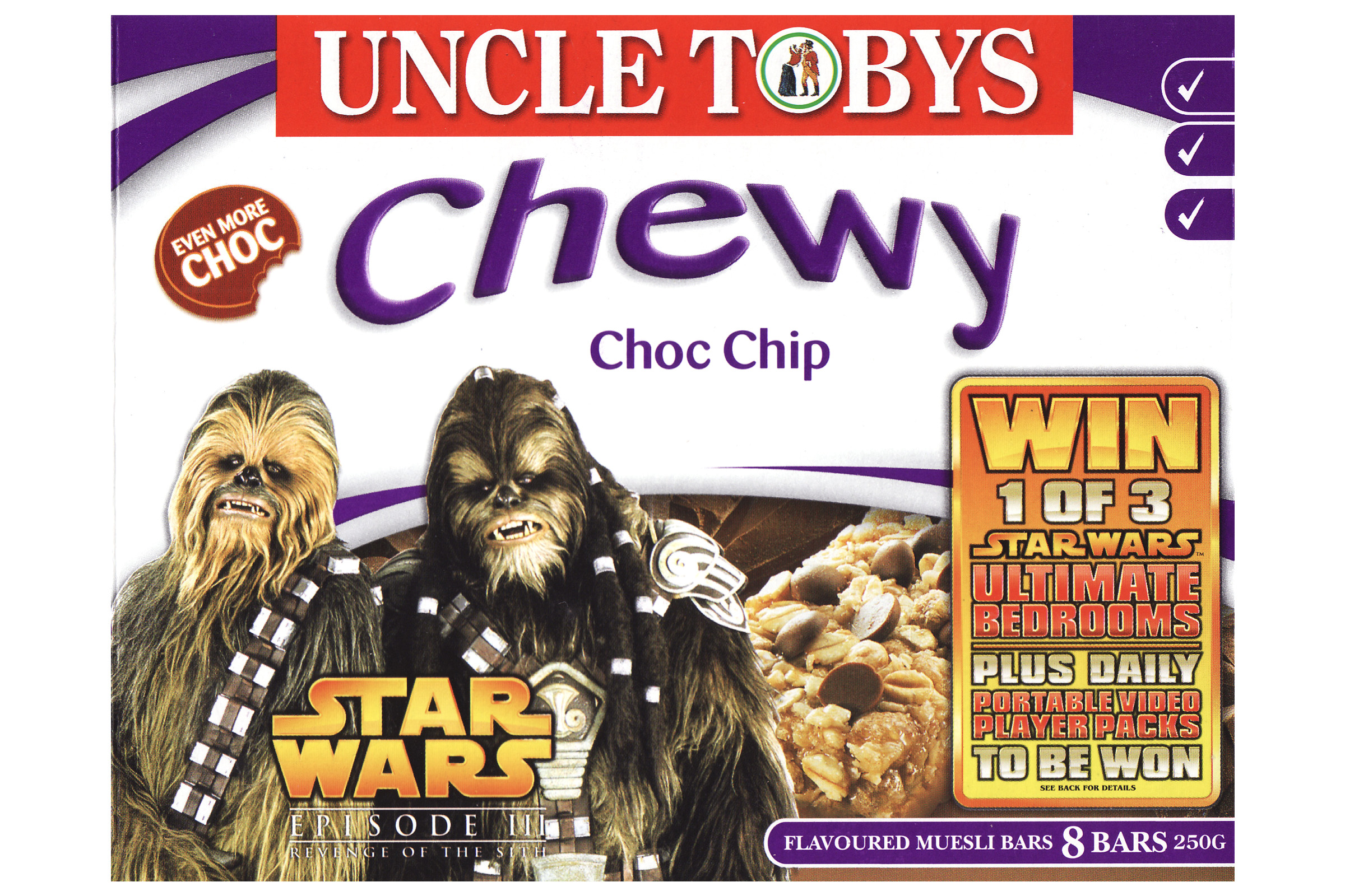 Uncle Tobys Chewy Muesli Bars - Choc Chip