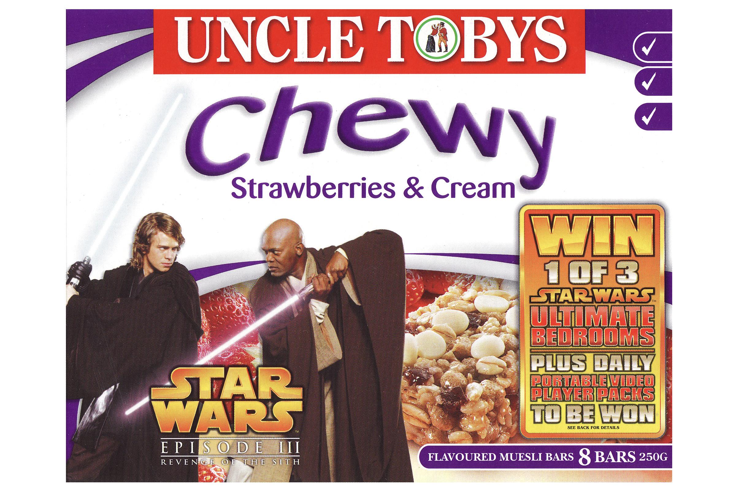 Uncle Tobys Chewy Muesli Bars - Strawberries & Cream