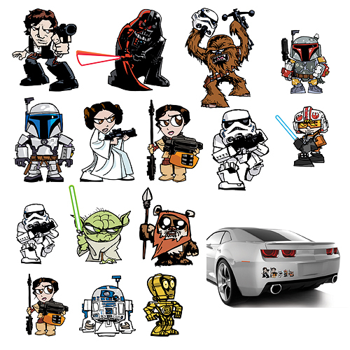 Star Wars: Heroes & Villains - Family Graphics Set at Mighty Ape