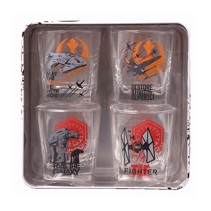 Star Wars Short Glasses In Tin Box at Mighty Ape