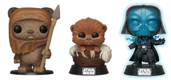 Exclusive Star Wars Pop! Vinyls at Mighty Ape